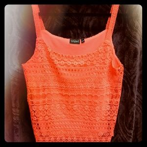 Tempted lace tank top
